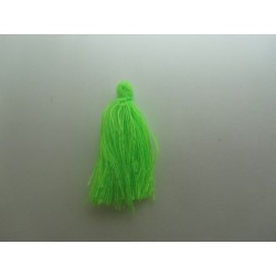 Cotton Thread Tassel Pendant  25-31 mm  Neon  Green    - 1 pc