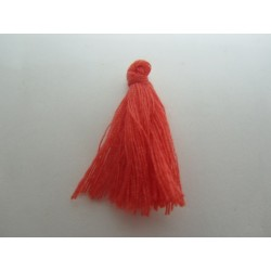 Cotton Thread Tassel Pendant  25-31 mm  Red/Orange   - 1 pc