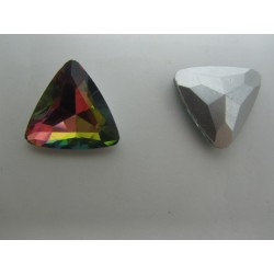 Triangular  Glass  Cabochon  23 mm   Crystal  Vitrail   - 1 pc