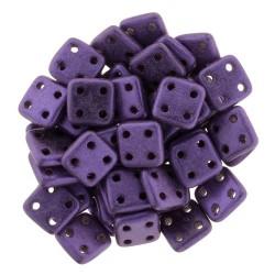 CzechMates QuadraTile  6 mm Metallic Suede Purple - 5 gr
