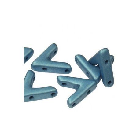 AVA®  Bead  10x4 mm  Metallic  Sea Blue   - 10 Pz