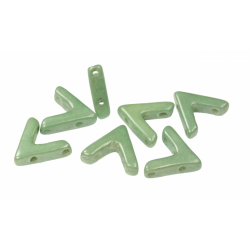 AVA®  Bead  10x4 mm  Luster Green    - 10 Pcs