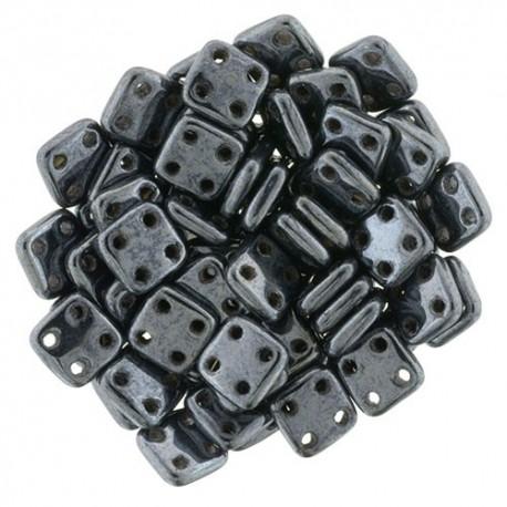 CzechMates QuadraTile  6 mm Hematite  - 5 gr