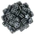 CzechMates QuadraTile  6 mm Hematite  - 5 g