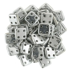 Perline QuadraTile  6 mm Silver - 5 gr