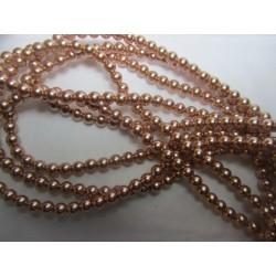 Swarovski Pearls 5810 4 mm Rose Gold - 20 Pcs