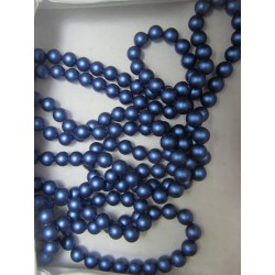 Swarovski Pearls 5810 6 mm Iridescent Dark Blue Pearl - 10 Pcs
