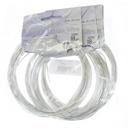 Aluminum  Wire  1,2 mm  (18 Gauge)  Silver  -  Spool of    9,2 m (30 ft)