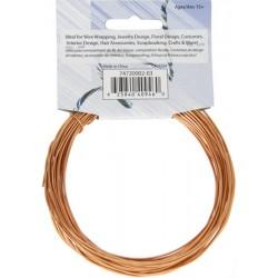 Aluminum  Wire  1,2 mm  (18 Gauge)  Light  Copper   -  Bobina  9,2 m
