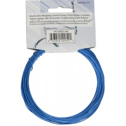 Aluminum  Wire  1,2 mm  (18 Gauge)  Royal Blue    -  Spool of    9,2 m (30 ft)