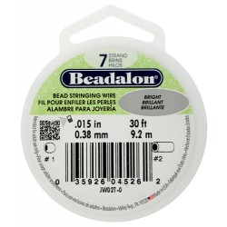 Bead Stringing Wire Beadalon 7 Strands 0,38 mm Bright - Spool of 9,2 m