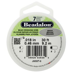 Bead Stringing Wire Beadalon 7 Strands 0,46 mm Bright - Spool of 9,2 m