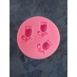3 Tulips Silicone Mould 4,7 x 1 cm - 1 pc