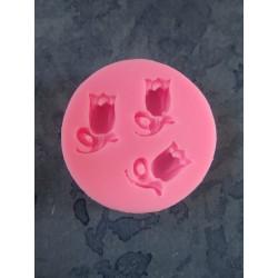 Stampo Silicone 3 Tulipani  4,7 x  1  cm  - 1 pz