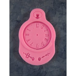 Steampunk  Clock Silicone Mould   9  x 5,7 x 0,8   cm  - 1 pc