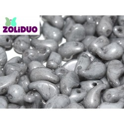 Zoliduo®  5 x 8  mm Opaque Grey  Luster  Right Version  -  20  pcs