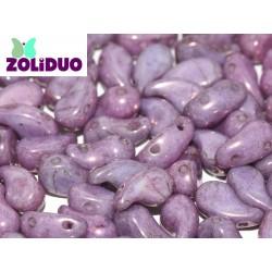 Zoliduo® 5 x 8 mm Opaque Lila Vega Luster Right Version - 20 pcs