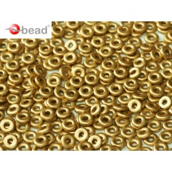 O Bead  4 mm Aztec Gold   - 5  g