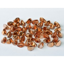 Pinch Beads  5x3 mm  Crystal Sunset   - 10 g