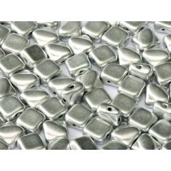 Perline Silky 6x6 mm  Alluminium Silver -  30 pz
