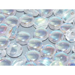 DiscDuo® Beads 6 x 4 mm Crystal AB   - 25  pcs