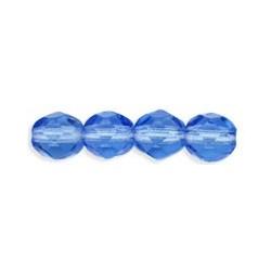 Mezzo Cristallo 4 mm Sapphire - 50  Pz