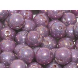 RounTrio® Beads 6 mm Chalk White Iris - 25 pz
