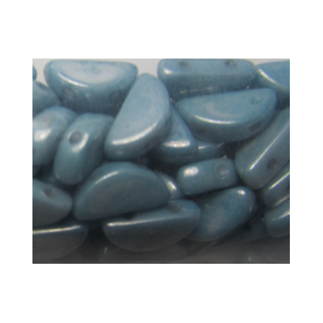 Semi Circle Beads  5x10 mm Opaque Baby Blue Luster   - 10 Pcs