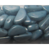 Semi Circle Beads 5x10 mm Opaque Baby Blue Luster - 10 Pz