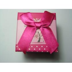 Cardboard  Box for Rings  50x50x40 mm  Fuchsia  Fantasy - 1 pc