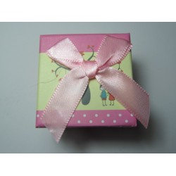 Cardboard  Box for Rings  50x50x40 mm  Pink  Fantasy - 1 pc