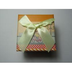 Cardboard  Box for Rings  50x50x40 mm  Orange Fantasy - 1 pc