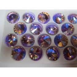 Rivoli Vetro 18 mm  Violet AB  - 1 pz