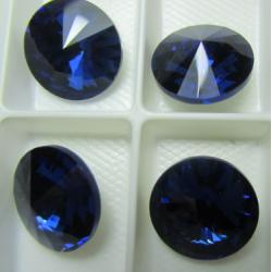 Rivoli Vetro 18 mm Dark Sapphire   - 1 pz