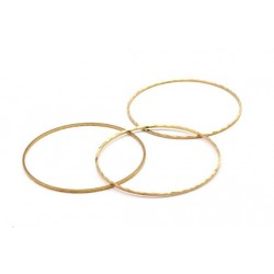 Brass Circle  Link  Bossed  50 mm   - 1 pc