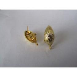 Perno in Zama  a Chiusura Mandorla    21x10   mm  Color Oro  Lucido  -   2 pz