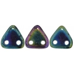 CzechMates Triangle 6 mm Iris Green - 5 g