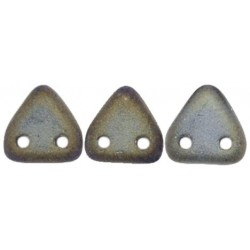 Perline Triangle 6 mm Matte Iris Brown - 5 g