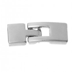 Alloy Hook Clasp Part A  22x12 mm and  Part B  19x12 mm, Silver Color Plated - 1 pc