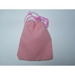 Velvet Jewelry  Bag  9x7 cm  Pink - 1 pc