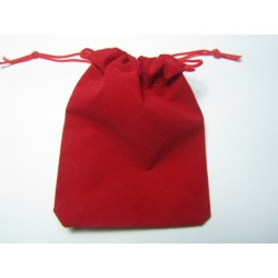 Velvet Jewelry  Bag  9x7 cm  Red - 1 pc