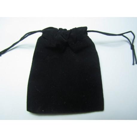 Velvet Jewelry Bag 9x7 cm Black - 1 pc