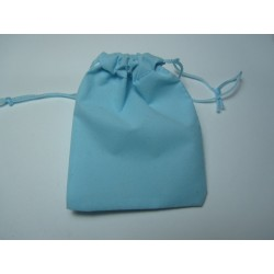 Saccheto  in Velluto  per Bijoux  9x7 cm  Azzurro  - 1 pz