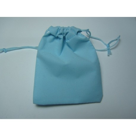 Velvet Jewelry  Bag  9x7 cm  Light Blue  - 1 pc