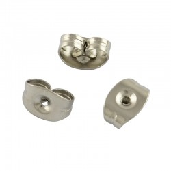 Stainless Steel Earnut Earring Back 5x3x2,5 mm - 10 pcs