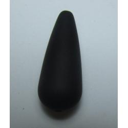 Goccia Resina Satinata 33x13 mm Nero - 1 pz