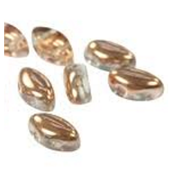 IrisDuo® 7 x 4  mm Crystal Capri Gold   -  25 Pz