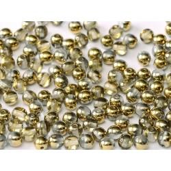 Perle Tonde in Vetro di Boemia  8 mm  Crystal Amber - 20 Pz