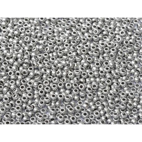 Miyuki Round Seed Beads  8/0  Alluminium Silver  -  10 g
