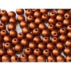 Perle Tonde in Vetro di Boemia  8 mm  Metallic Copper - 20 Pz